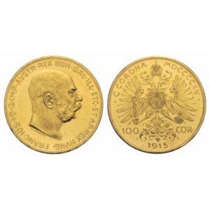 100 CORONE AUSTRIA Nuovo Banco Metalli Genova